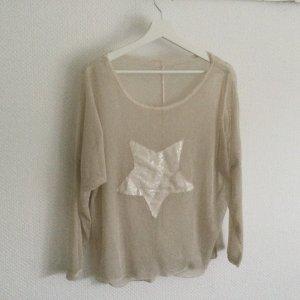 Vintage Langarmshirt Light Beige S/ M