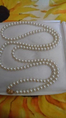 Vintage Lange Perlen Fauxperlen Kette Halskette 166 cm