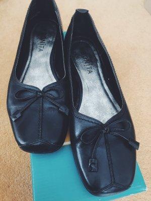Vintage Leder Ballerinas in 37 Größe