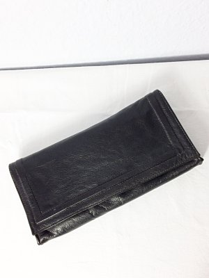 Vintage Leder Clutch groß schwarz sehr weich