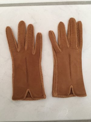 Leather Gloves cognac-coloured leather