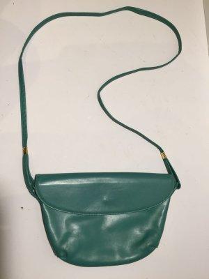 Vintage Leder-Handtasche grün