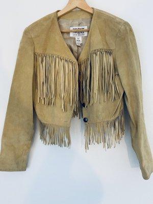 Vintage Leder Jacke mit Franzen