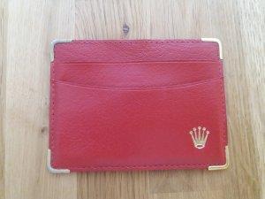 Rolex Etui na karty ciemnoczerwony Skóra