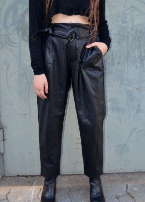 Vintage Leder Pants Highwaisted mit Gürtel S/M/L(XL)