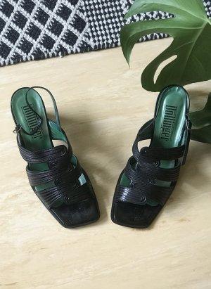 vintage leder sandaletten