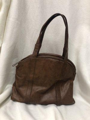Vintage Leder Tasche Bowlingbag Shopper