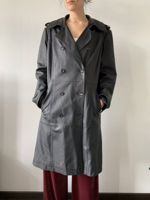 Fabiani Long Jacket black leather