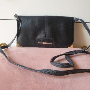 Vintage Leder Umhängetasche schwarz