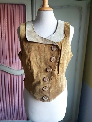 Vintage Leather Vest multicolored leather