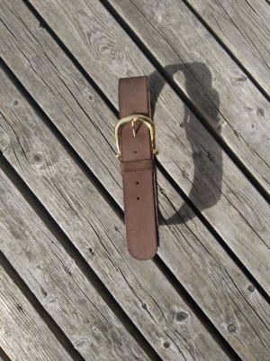 Unbekannte Marke Leather Belt light brown