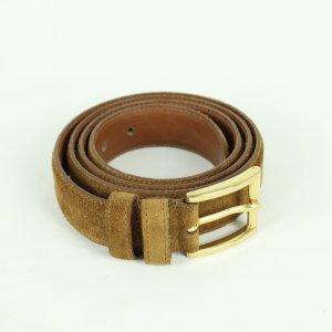 Real Vintage Cinturón de cuero marrón Cuero