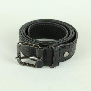 Real Vintage Cinturón de cuero negro Cuero