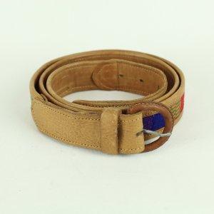 Real Vintage Cinturón de cuero marrón claro Cuero