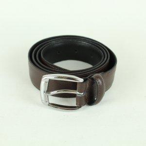 Real Vintage Cinturón de cuero marrón oscuro Cuero