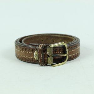 Vintage Cintura di pelle marrone chiaro-marrone Pelle
