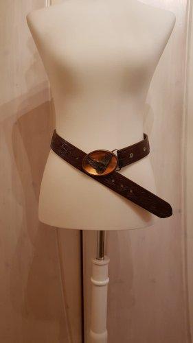 Vintage Ledergürtel mit Schnalle Adlermotiv (Bergamot 1988 Z45) 90x4cm