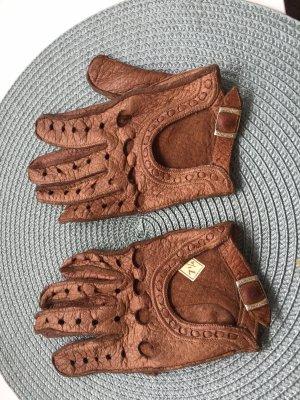 Leren handschoenen cognac