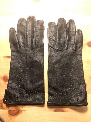 Vintage Leren handschoenen zwart