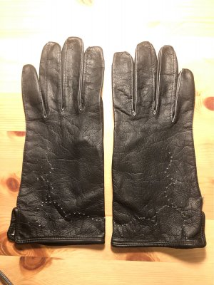 Vintage Lederhandschuhe dünn schwarz Größe 8 bzw. 7,5 - Versandkostenfrei
