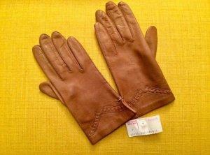 Vintage Guanto in pelle marrone chiaro