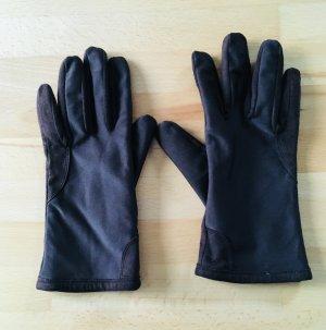 Vintage Guanto in pelle marrone-nero Pelle