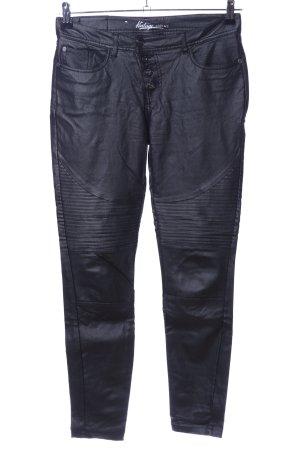Vintage Lederhose schwarz Casual-Look