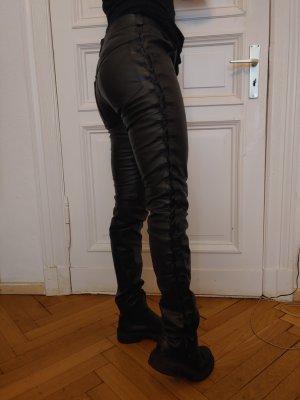 alternative vintage soft Pantalone in pelle nero
