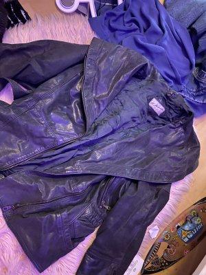 Armani Veste en cuir noir