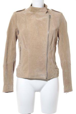 Vintage Lederjacke beige Casual-Look