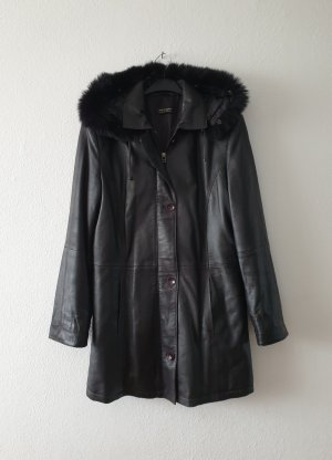 Julia S. Roma Leather Jacket dark brown leather