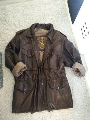 Vintage Veste oversize brun cuir