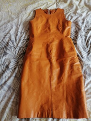 Leather Dress dark orange