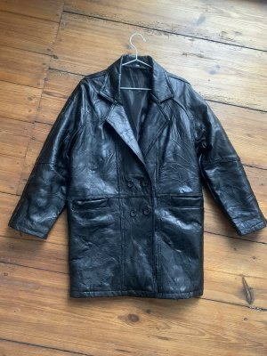 Vintage Leather Coat black