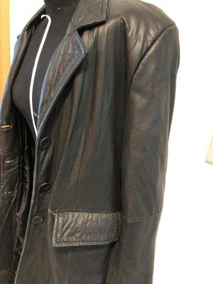 Ohne Skórzany płaszcz czarny
