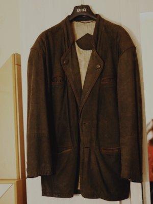 American Vintage Leather Jacket brown-dark brown