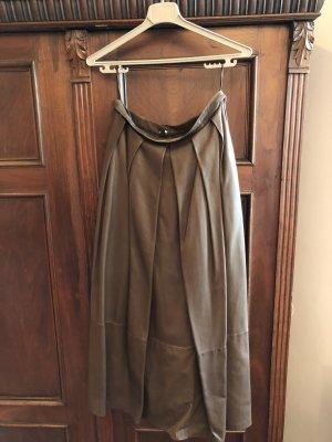 Christ Leather Skirt brown