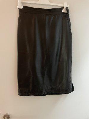 Jenny Jupe en cuir noir