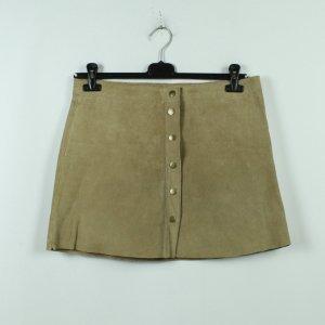 True Vintage Leren rok beige Leer