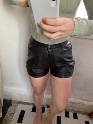 Vintage Ledershorts Schwarz Gr 36 Hotpants