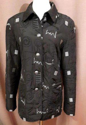 Vintage Pikowana kurtka czarny-biały