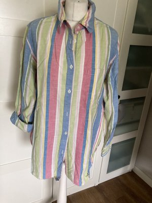 Vintage Love Blusa de lino multicolor