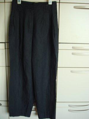 Vintage - Leinen Hose Gr. 36 schwarz Karottenform -  80er jahre