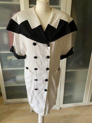 Vintage Love Coat Dress black-white linen