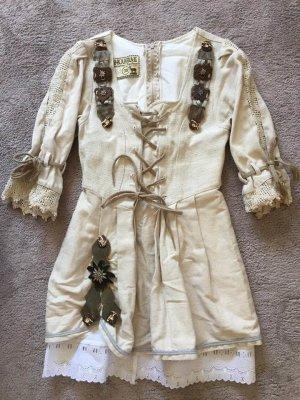 Vintage Leinen Trachtenkleid
