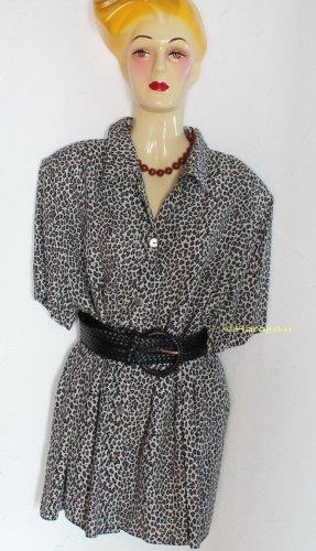 Vintage Leoparden Muster Leo Bluse