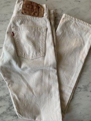 Vintage Levi's 501 in Creme Weiß gerader Schnitt 27