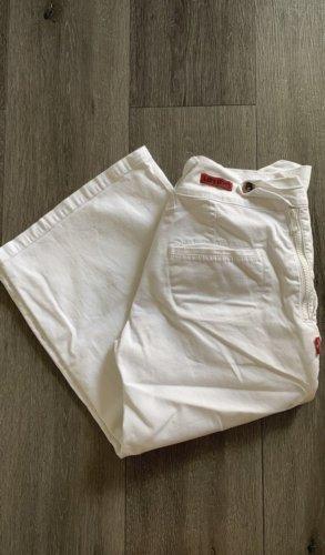 Levi's Spodnie Capri biały
