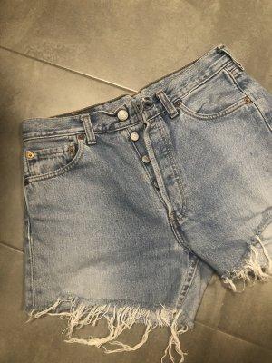 Levi's Pantalón corto de tela vaquera azul-azul celeste