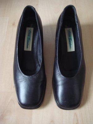Vintage - Lisa Sarina  Business  Halbschuhe Schlüpfschuhe Pumps Gr. 39 Leder schwarz - Made in Italy